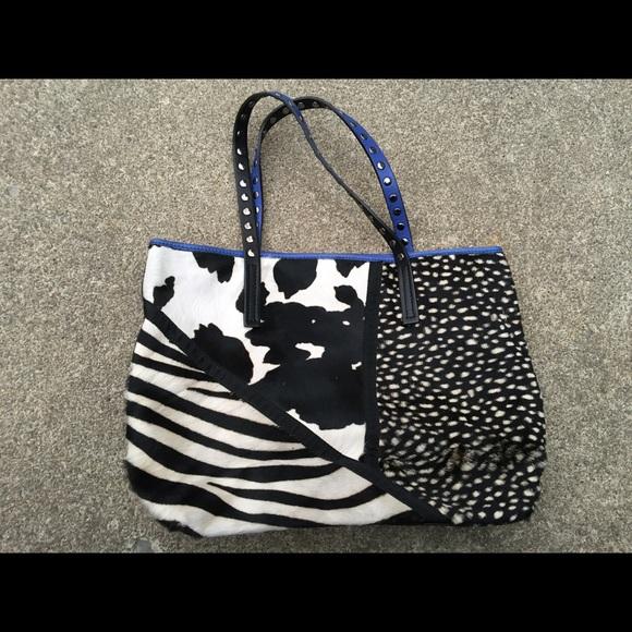 Fur Shoulder Asia Bellucci Bag Poshmark Black Nwot BagsBlue H2IED9W